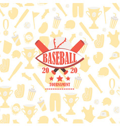 baseball tournament icon on background vector image