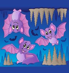 Bats theme image 1 vector