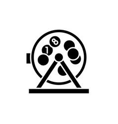 bingo balls and lotto black icon sign on vector image