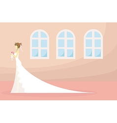 bride and wedding ceremony pray in church vector image