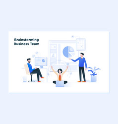 Business meeting and brainstorming business vector