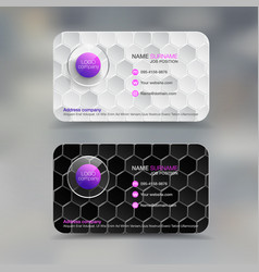 Business name card with diamond background vector
