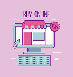 buy online computer store discount virtual vector image