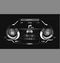car hud dashboard abstract virtual graphic touch vector image