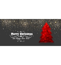 christmas tree new year design vector image