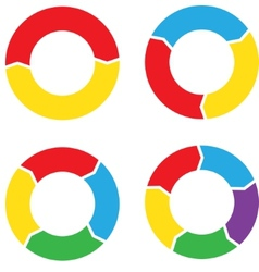 Circle chart set color vector image