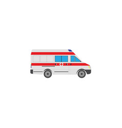 color image ambulance vector image