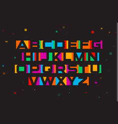 colored font geometric negative space vector image