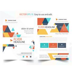 Colorful abstract triangle annual report brochure vector