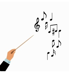 Conductor hands concept vector