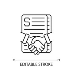 Contract success linear icon vector