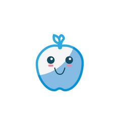 Cute apple cartoon vector