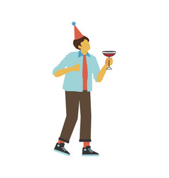 dancing and drinking vector image