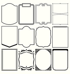 decorative vertical frames vector image