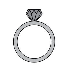 diamond engagement ring icon image vector image