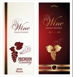 elegant wine labels vector image
