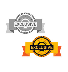 exclusive offer golden medal icon seal signd vector image