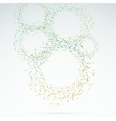 Exploded particle rings abstract background vector