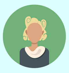 female avatar profile icon round woman face vector image