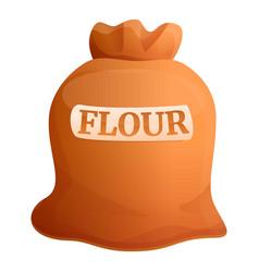 Flour sack icon cartoon style vector