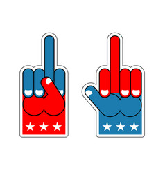 Foam finger usa patriotic sign symbol of vector
