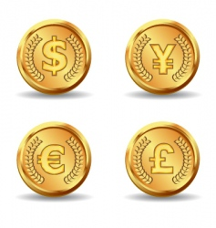 gold currency icon vector image