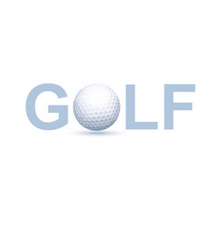 golf logo concept vector image