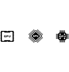 Graphics processor unit icon isolated on white bac vector