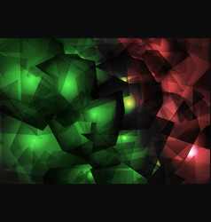 green and red christmas crystal background vector image