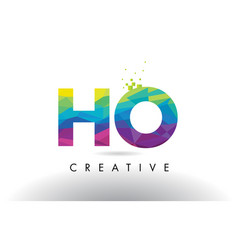 Ho h o colorful letter origami triangles design vector