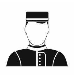 Hotel bellman black simple icon vector
