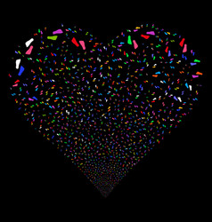 Human footprints fireworks heart vector