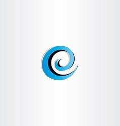 letter e logo water wave spiral icon vector image vector image