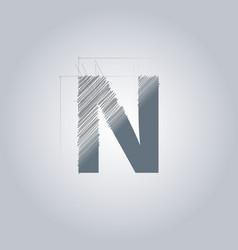 Letter n logo alphabet logotype architectural vector