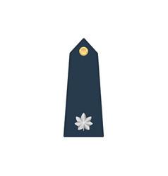 Lieutenant colonel rank insignia isolated stripe vector