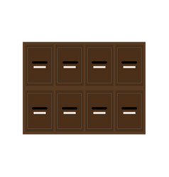 Locker wooden mailboxes postal for keep your vector