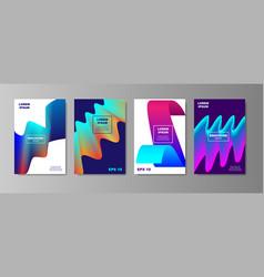 minimal liquid cover designs set future poster vector image