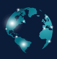 Modern globe design vector image