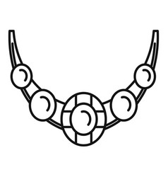 necklace icon outline style vector image