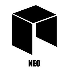 Neo icon simple style vector