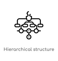 Outline hierarchical structure icon isolated vector