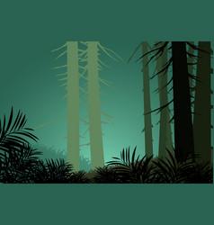 Pine trees scene vector