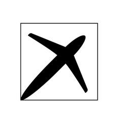 plane 03 vector image