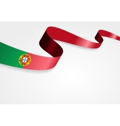 Portuguese flag background vector