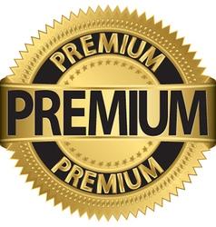 Premium gold label vector