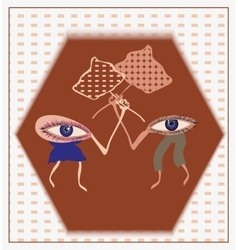 Protest of male and female in the human mind vector image