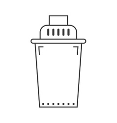 Replaceable water filter Flat icon Cleaning vector