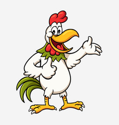 Rooster cartoon character vector