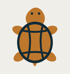 sea turtle hand drawn turtle isolated on vector image