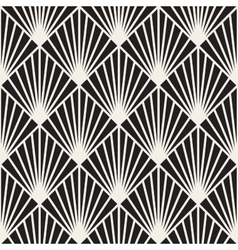 Seamless Black and White Burst Lines vector image